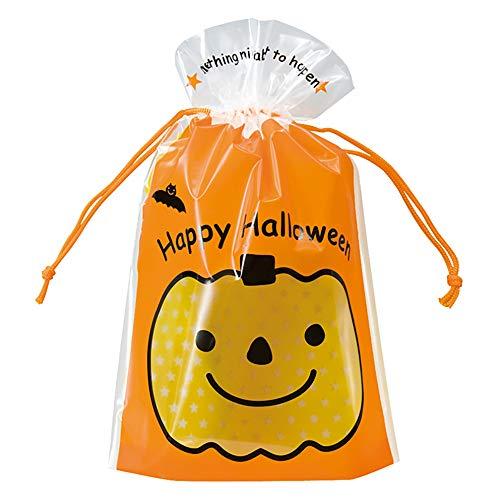 ギフトバッグ 巾着袋 HW ハロウィン かぼちゃ-S (20枚) HW-3NS