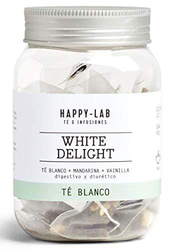 Happy-Lab White Delight Té Infusión - 14 pirámides