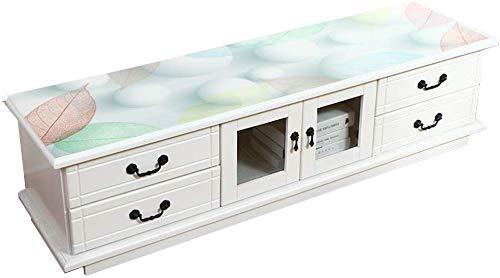 ZXL Druktafelkleed, zacht glas-plastic tafelkleed, waterdicht, hittebestendig, tv-meubel, tafelkleed, lengte 120-200 cm, kleur: A, maat: 40 x 180 cm