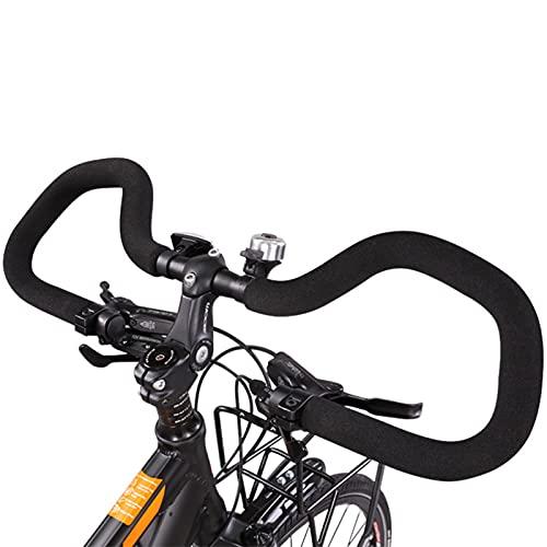 hujio Bicicleta Montaña Manillar de Mariposa para Bicicleta con Esponja Grips, Aoligei Accesorios MTB, Aleación de Aluminio Ultraligera para Senderismo Y Desplazamientos Urbanos31.8mm