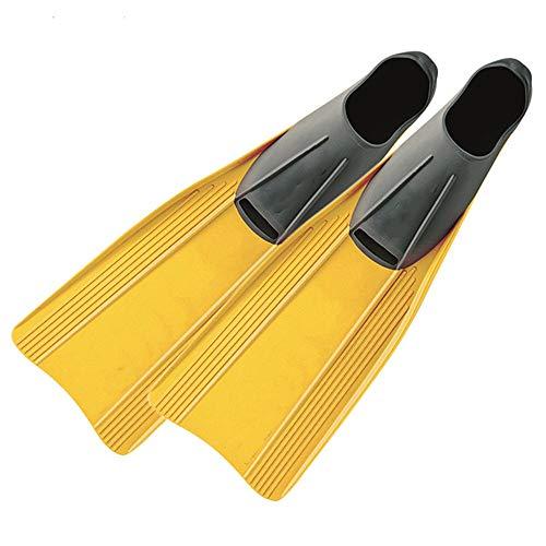 QiHaoHeji Aletas de buceo para niños de entrenamiento de natación cortas aletas de buceo equipo profesional para esnórquel y natación (color: amarillo, tamaño: 30/32)