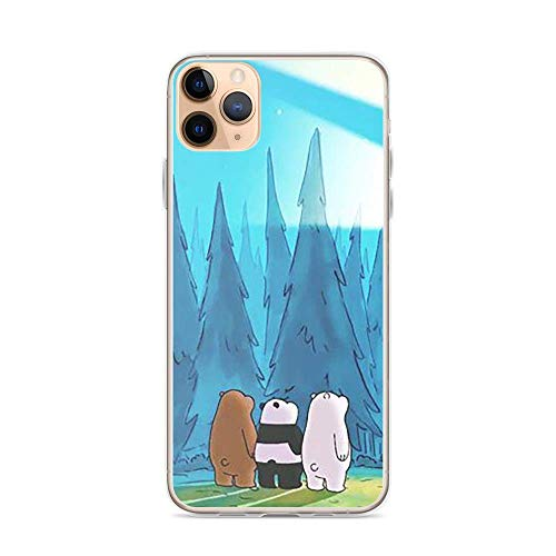 Merasri Compatible with iPhone 11 Case We Bare Bears Brothers Sunshine Animated Series Pure Clear Phone Cases Cover