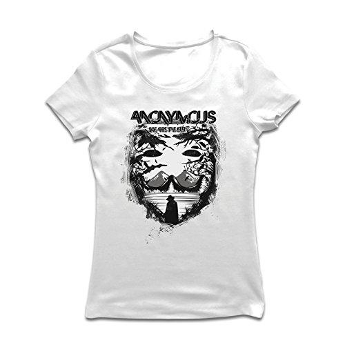 lepni.me Frauen T-Shirt Hacktivist Mask - Protest Zitate von Anonymous (Medium Weiß Mehrfarben)