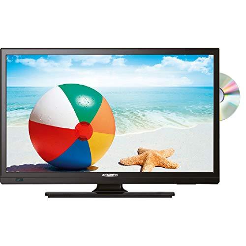 ANTARION TV1912 TV LED 19' 48cm Téléviseur 4K DVD Intégré Camping Car 12V DVB-T2