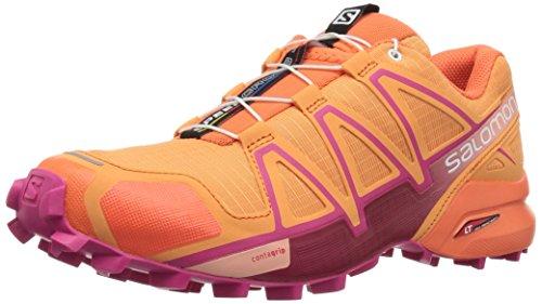 Salomon Salomon Damen Speedcross 4 Traillaufschuhe , Orange (Bird Of Paradise / Nasturtium / Pink Ya 000) , 44 EU