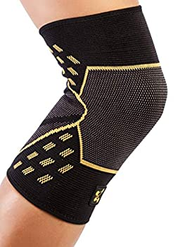 CopperJoint Knee Compression Sleeve PRO - Copper-Infused Promotes Increased Blood Flow to The Knee Provides Enhanced Compression and Support for Athletes - Single  Small