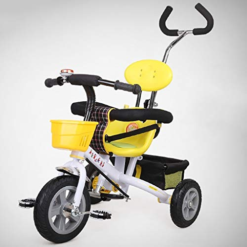 GYF 2 en 1 Triciclo for Triciclo Bebé Plegable 8 Meses A 6 Años Triciclo Manual for Niños Arnés De Seguridad Pedal (Color : White)