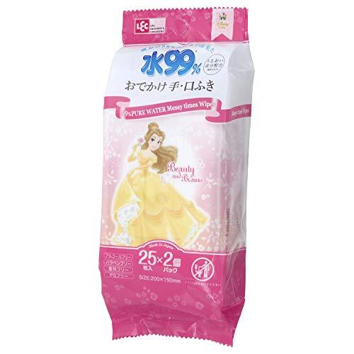 レック ディズニー プリンセス ベル 水99%おでかけ手 口ふき お出かけ用 50枚 2パック