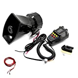 Viping Car Horn Car Siren Horn Car Siren Speaker Vehicle Horn with Mic PA System Emergency Sound Amplifier Car Siren Loud Electric Horn Sound for any 12V Police Car Truck Lorry Boat SUV ect