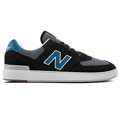 New Balance Men's All Coast 574 Low Top Sneaker Shoes Black/Blue 11.5