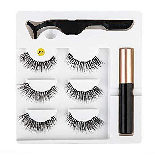 Eyeliner magnétique Kit de faux cils facile à porter Eyeliner liquide à séchage rapide Eyeliner magnétique de faux cils Eyeliner liquide magnétique Eyeliner liquide False Eyelashes Set # 11