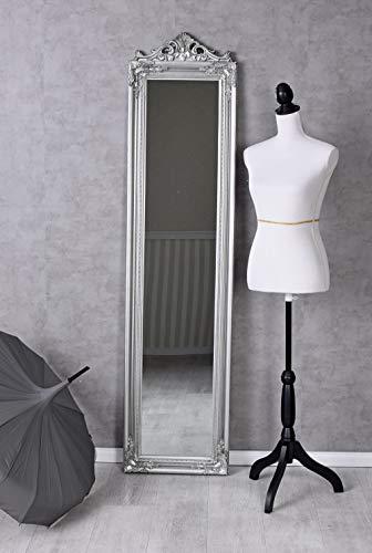 Standspiegel Spiegel Silber Ankleidespiegel Barock Antik 180x44cm Flurspiegel Palazzo Exklusiv