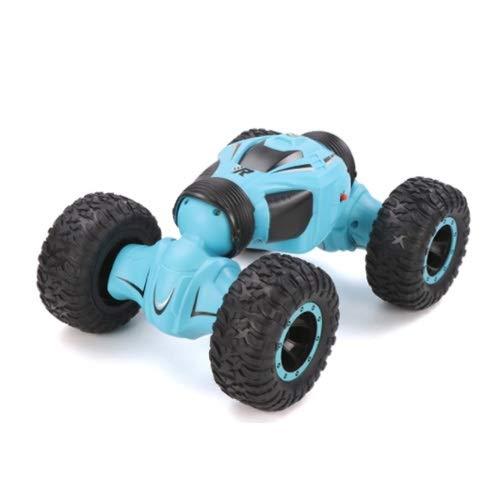 Lihgfw Allradantrieb Offroad-Fahrzeug-Stunt-Drift-Aufladung Dynamisches Twisting Auto Klettern Auto Fernbedienung Auto Kinder Jungen Spielzeug Rennsport (Color : Blau, Größe : 3 Batteries)