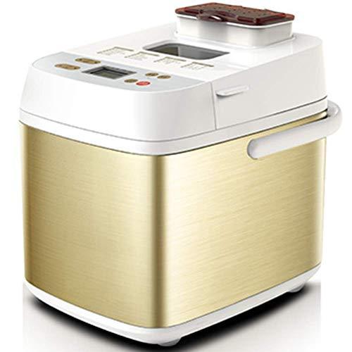 Edelstahl-Brot-Maschine, 18-in Programmierbare Brotbackautomaten mit Frucht-Nuss-Zufuhr, Glutenfrei-Einstellung, 8bayfa