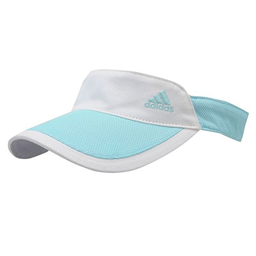 Adidas Damen Visor Cap verstellbar aquablau-weiss