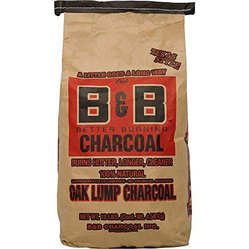 B&B Charcoal Oak Lump Charcoal, 4540 GR