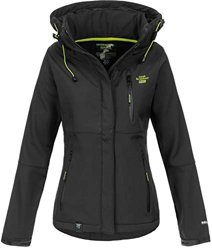 Geographical Norway Damen Outdoor Softshelljacke Touna B Kapuze Black XXL