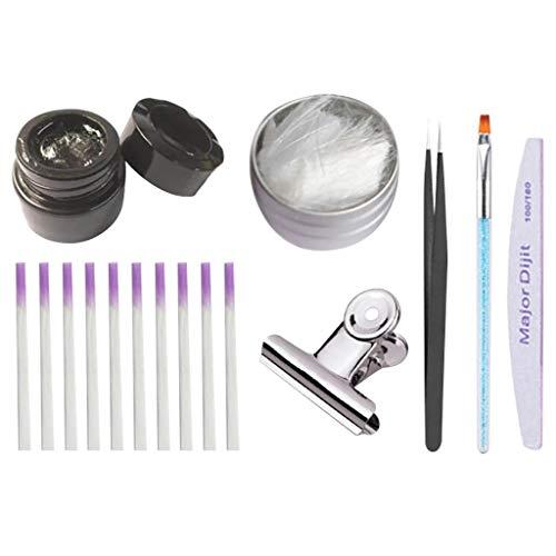 10Pcs Manucure Kit Nail Art Complet Manucure Des Ongles (Multicolore)