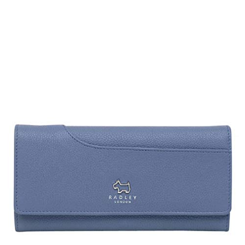 Radley Airforce Blue Leather Large Bifold Pocket Matinee Purse RRP £79