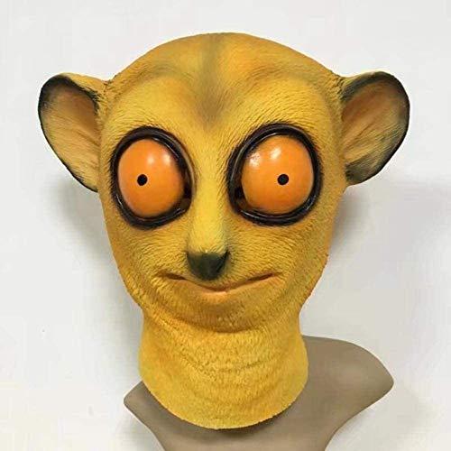Lavquz Mscara de ltex de Mono de Abeja Linda y Realista de Halloween Mscara de ltex de Cara Completa para Adultos Mscara de Fiesta de rol de Fiesta de Disfraces de Halloween