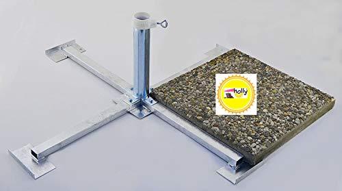 SONNENSCHIRMSTÄNDER - FÜR WEGEPLATTEN (50 x 50 cm) - aus 4 mm Ø DEUTSCHEM STAHL - STABIELO - BIS 55 mm Ø - FEUER VERZINKTER PLATTENSTÄNDER aus Metall für GROSSSCHIRME zum Einlegen von BETONPLATTEN 50 x 50 cm - DER STABIELO ® SONNENSCHIRM PLATTENSTÄNDER für Schirmstöcke bis Ø 55 mm - MADE in GERMANY - Sonnenschirmhalter - HOLLY PRODUKTE STABIELO ® - INNOVATIONEN MADE in GERMANY - holly-sunshade ® - PREISE SO LANGE VORRAT REICHT - LIEFERUNG ohne PLATTEN - PRODUKTE MADE in BADEN WÜRTTEMBERG -