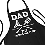 Funny Apron for Men - Dad The Man The Myth The Grill Master -...