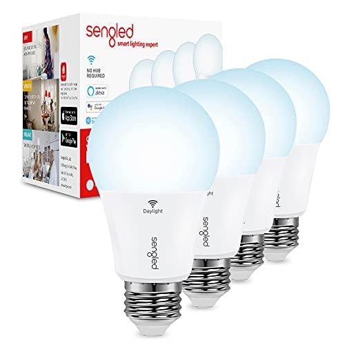 Sengled Smart Light Bulbs, Smart Bulbs That Work with Alexa & Google Home, Alexa Light Bulb No Hub Required, A19 WiFi Light Bulbs Daylight High CRI>90, CEC Title 20, E26 800LM 60W Equivalent