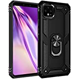 Google Pixel 4 XL Case Cover,Tough Heavy Protective 360 Metal Rotating Ring Kickstand Holder Grip Built-in Magnetic Metal Plate Armor Heavy Duty Shockproof (Black)