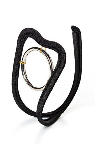 Yourdesignerz Damen C-String in schwarz mit Ring Frauen Dessous String Schmuck ouvert OneSize S/M