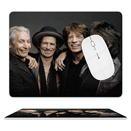 Rolling Stone Tie Dye Gaming, Office Desk Accessories, Laptops, and Other Edge Stitched Mouse Pads, 3D Non-Slip, Waterproof and Durable Rectangular Mouse Pads