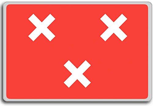 Nederland, Breda stad vlag koelkast magneet