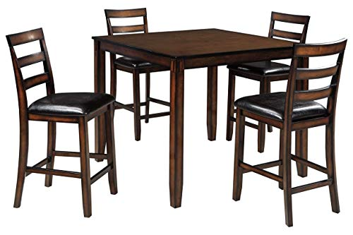 Signature Design by Ashley Coviar Dining Table Set, Brown Dark Brown Dining Set