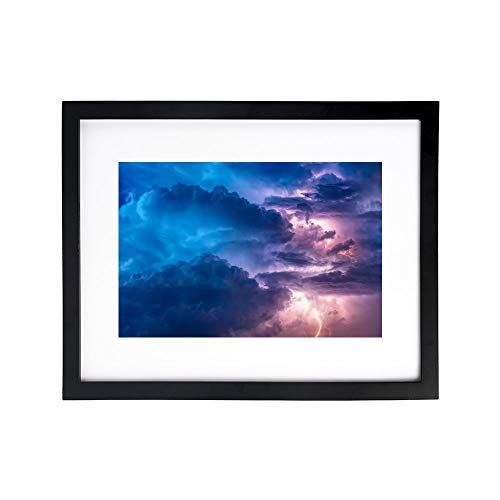 Home Wood Framework Thunderstorm Flash Flash Weather Sky Wall Art Art Art Art Art Art Prints Cuadros para pared y hogar 30 x 40 cm
