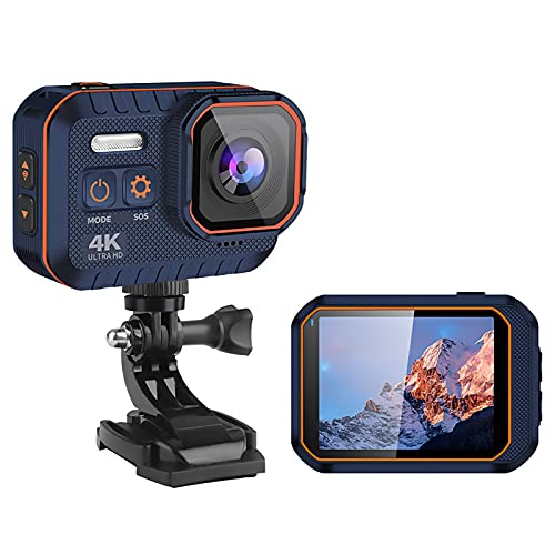 Action Cam 4K WiFi Action Camera 20MP Fotocamera Subacquea Telecomando 2.4G Telecamera Ultra HD per Casco 170° Grandangolare