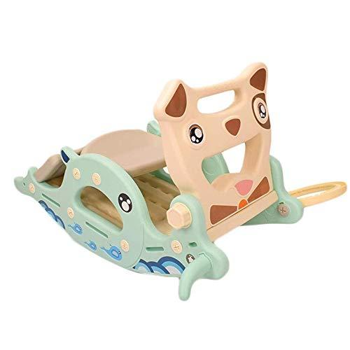 Baby Rocking Horse Ride Toy, Rocking Horse Slide Two In One Children Indoor Home Trojan Rocking Cradles