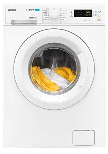 Zanussi ZWD71663W Waschtrockner Frontlader / Waschmaschine (7 kg) mit Trockner (4 kg) / sparsamer Waschautomat und Wäschetrockner / Material- und Mengenautomatik / 952,0 kWh/Jahr
