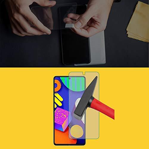 EnWi | 2X Panzer-Glas-Folie 9H Bildschirm-Schutz-Folie für Samsung Galaxy F62