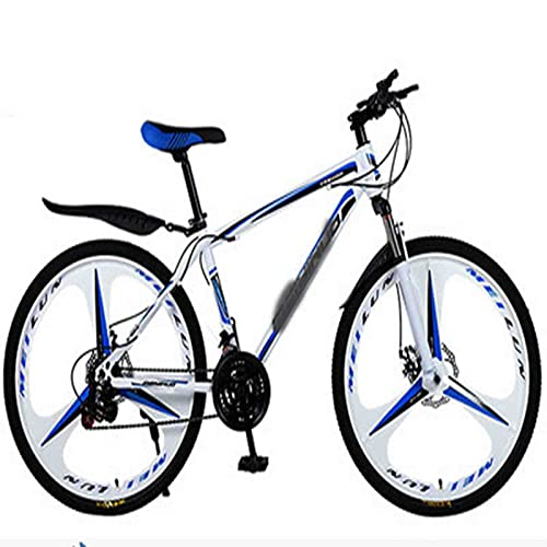 Men's And Women's Hybrid Bicycles, 21-speed-30-speed, 24-inch Wheels, Dual-disc Bicycles, Multiple Colors (Color : A, Inches : 26 inches)