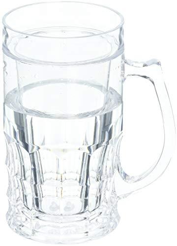 Wyndham House 16.9oz Beer Mug with Freezing Gel, set of 1, Clear
