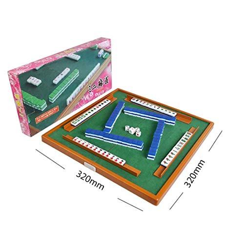 Mini Mahjong mit Tisch Traditional Chinese Mahjong Set Tagbar für Reise für zu Hause Familien Spiele Freunde Party Spiele