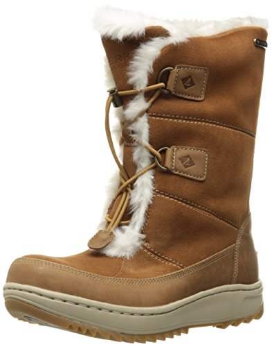 Sperry Top-Sider Women's Powder Valley Snow Boot, Brown, 6.5 M US