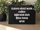 Hose233 Un poème sur Un Cadeau de Travail pour Un ami avec Une Citation de vin, Cadeaux Amusants pour Un collègue de Travail, Cadeaux Amusants sur Une étagère en Bois de vin.