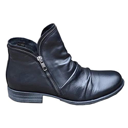 Botas de Combate Mujer Botas Mujer Invierno Forradas Cálidas Botines Ante Plataforma Zapatos Nieve Cómodos Casual