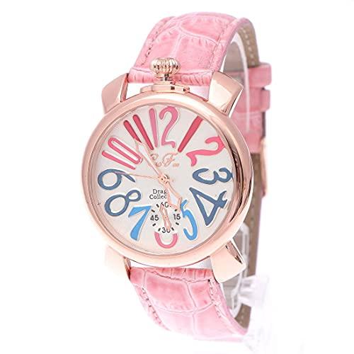 [ITALICO] [イタリコ] (clubface) トップリューズ式ドレスウォッチ ビッグフェイス腕時計 カラフル文字盤40mm (CピンクXゴールド)