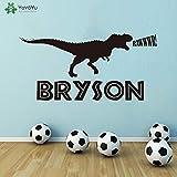wopiaol Sticker Mural Personnalisé Dinosaure Nom Stickers Muraux Chambre d'enfants Garçons Chambre Vinyle Art Mural Forest Park Thème