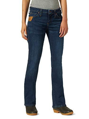 Wrangler RIGGS WORKWEAR Women's 5 Pocket Boot Cut Jean, Light Stone, 12W x 30L (Riggs Utility Jeans)