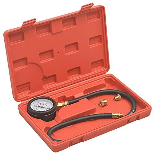 Festnight Kraftstoff-Druckprüfer-Set Öldruck Prüfgerät Messgerät Kraftstoffdruckprüfer Vakuumtester Unterdruck Tester Set Vakuum Messen Benzinpumpe