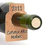 Bar Amigos Pack de 24 etiquetas para botellas de vino de
