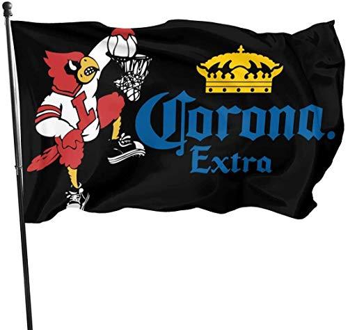HJEMD 3x5 FT Garten dekorative Flaggen Flaggen Corona Extra Bier Logo Flagge Jubiläum Flagge Haus Banner Außenflaggen