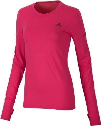 adidas Supernova L/S - Camiseta para mujer, color rosa, Mujer, color rosa, tamaño Large/UK14